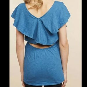 Jessica Simpson Cross Back Maternity Top Blue